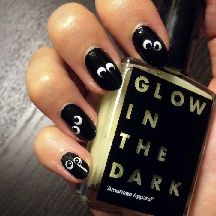 ojos oscuridas negro unas efecto