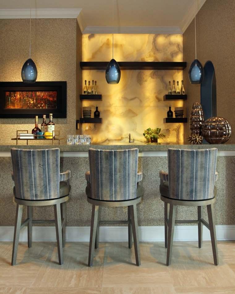 onix piedra diseno interiores cocina barra pared ideas