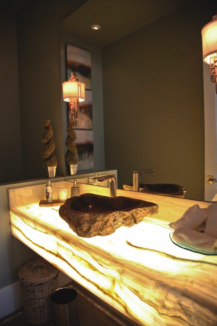 onix piedra diseno interiores lavabo bano espectacular ideas