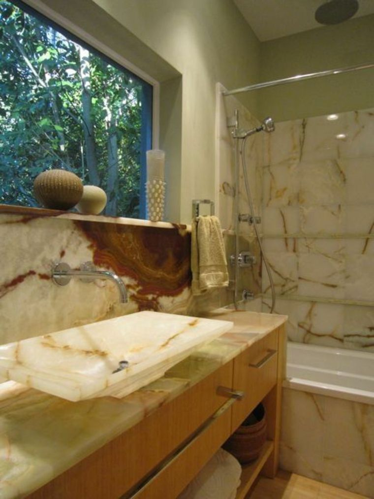 onix piedra diseno interiores lavabo precioso ideas