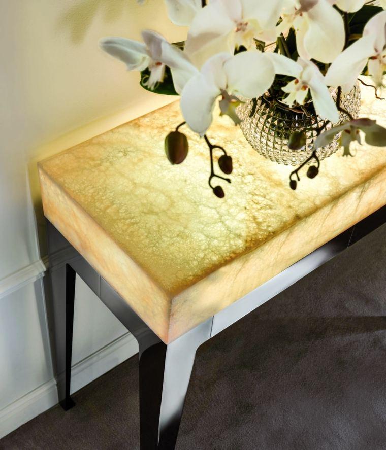 onix piedra diseno interiores mesa auxiliar ideas