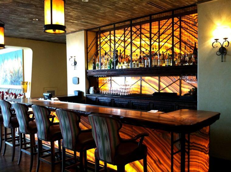 onix piedra diseno interiores pared barra original ideas