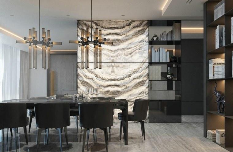 onix piedra diseno interiores pared comedor ideas