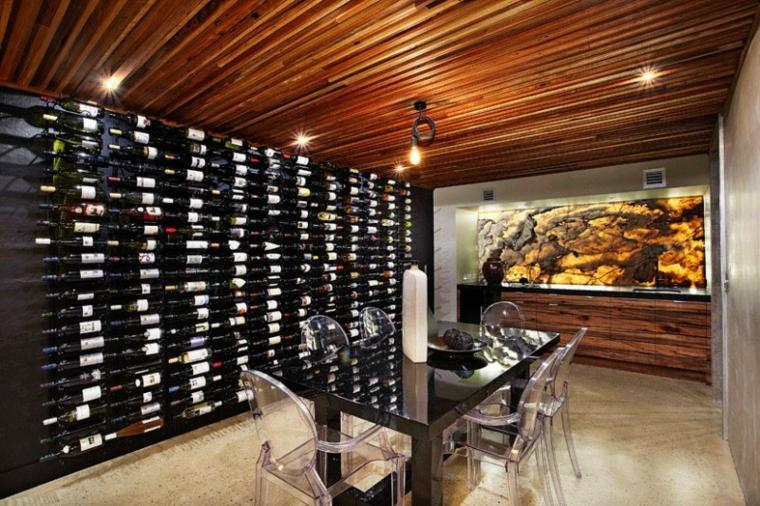 onix piedra diseno interiores pared vino ideas