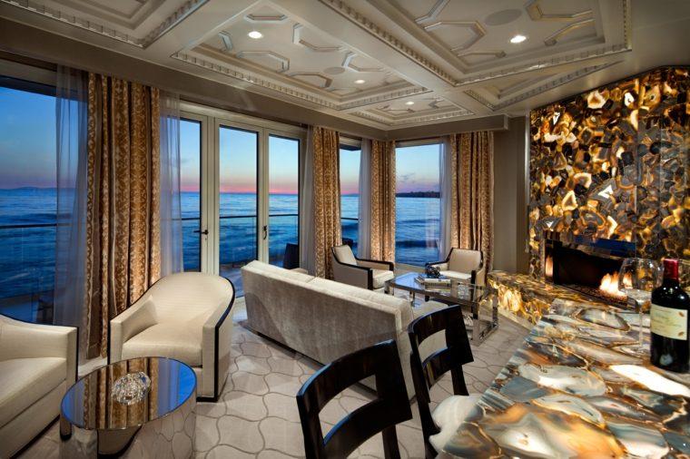onix piedra diseno interiores salon pared ideas