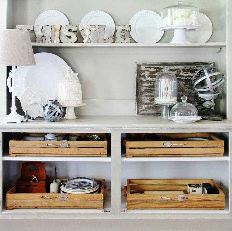 Organizar la cocina y ganar espacio for Estantes para cocina pequena