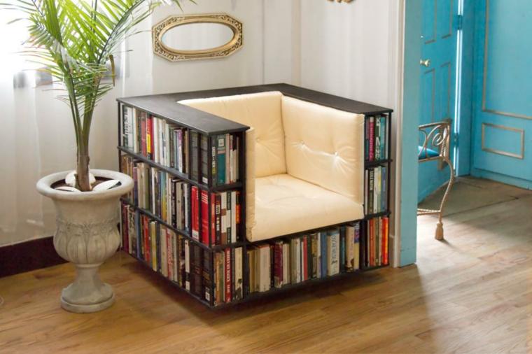 sillon estantes libros