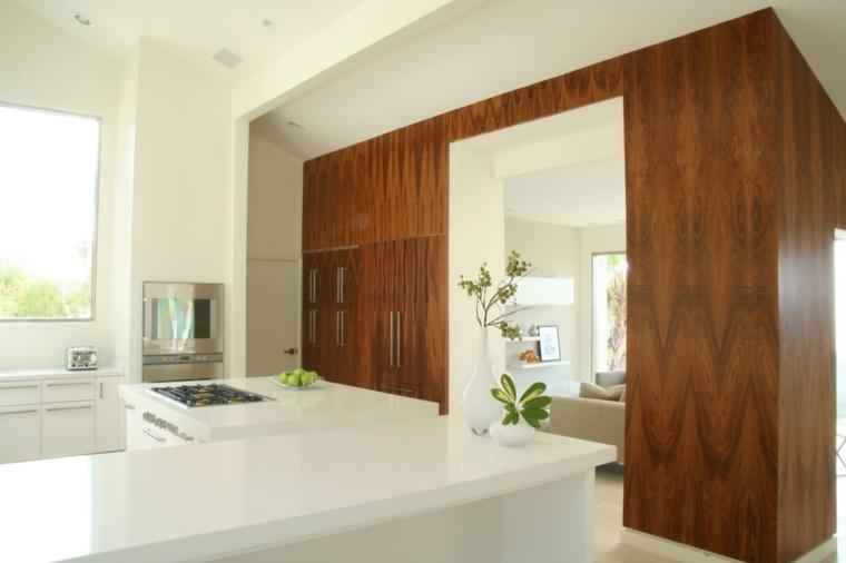original diseño cocina revestimiento madera
