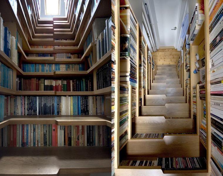 original diseño escalera biblioteca