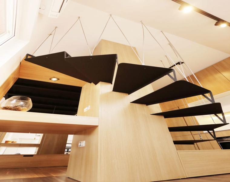original escalera caracolcolgante