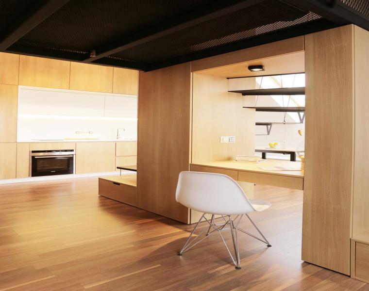 original apartamento moderno madera