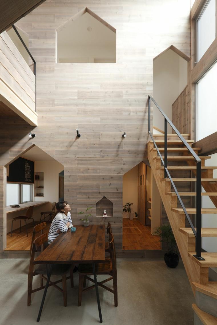 Acentos de madera para interiores modernos for Diseno de interiores 2016