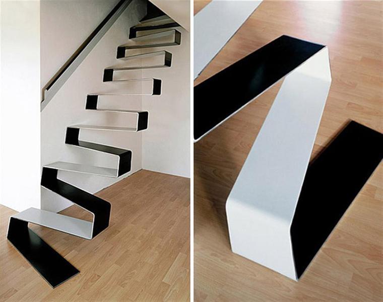 original escalera estilo contemporaneo metal
