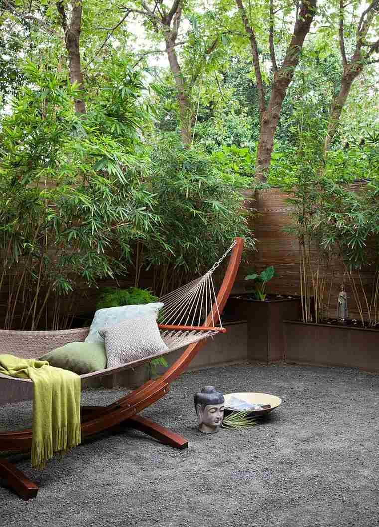 original diseño jardin hamaca zen