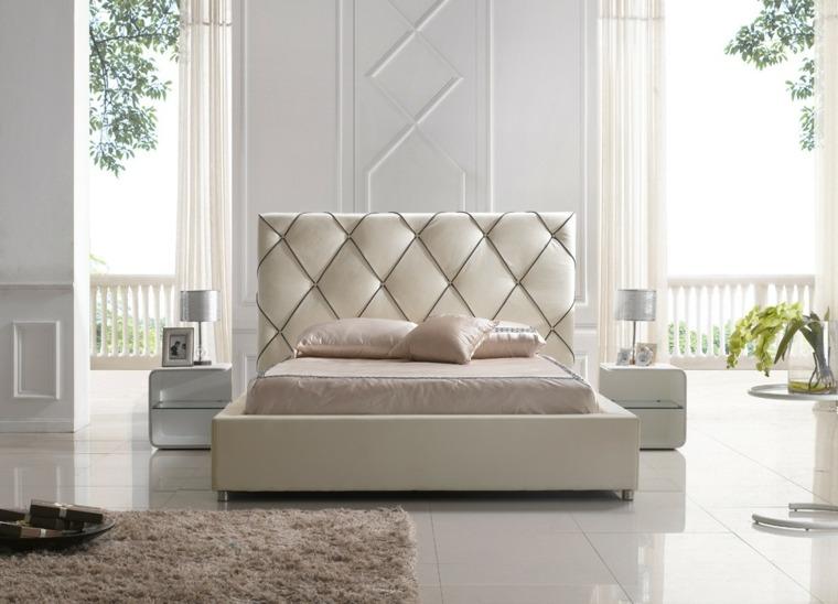original cama blanca tapizado