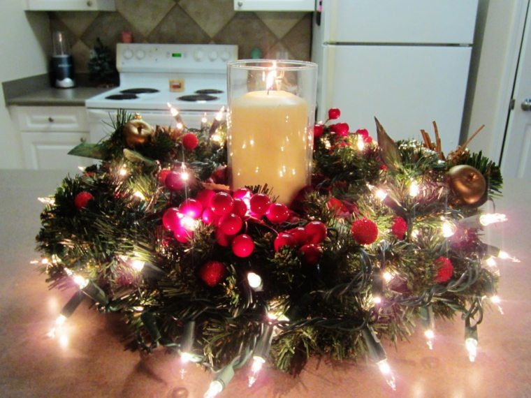 original centro mesa luces navidad