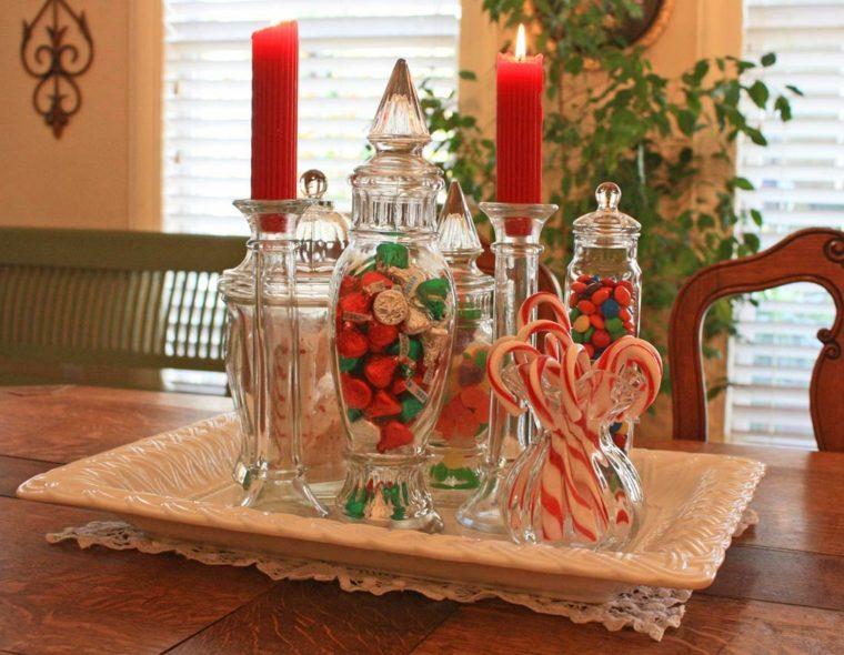 original centro mesa golosinas Navidad