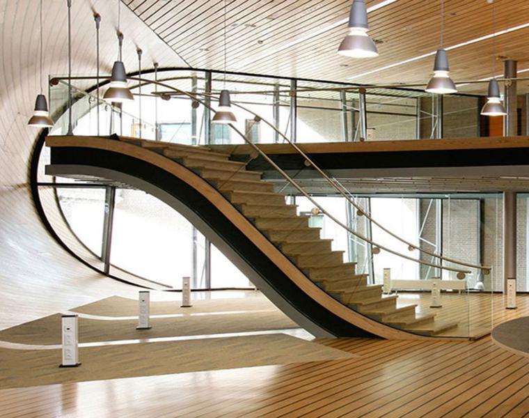 Escaleras modernas - descubre los diseños más inusuales -