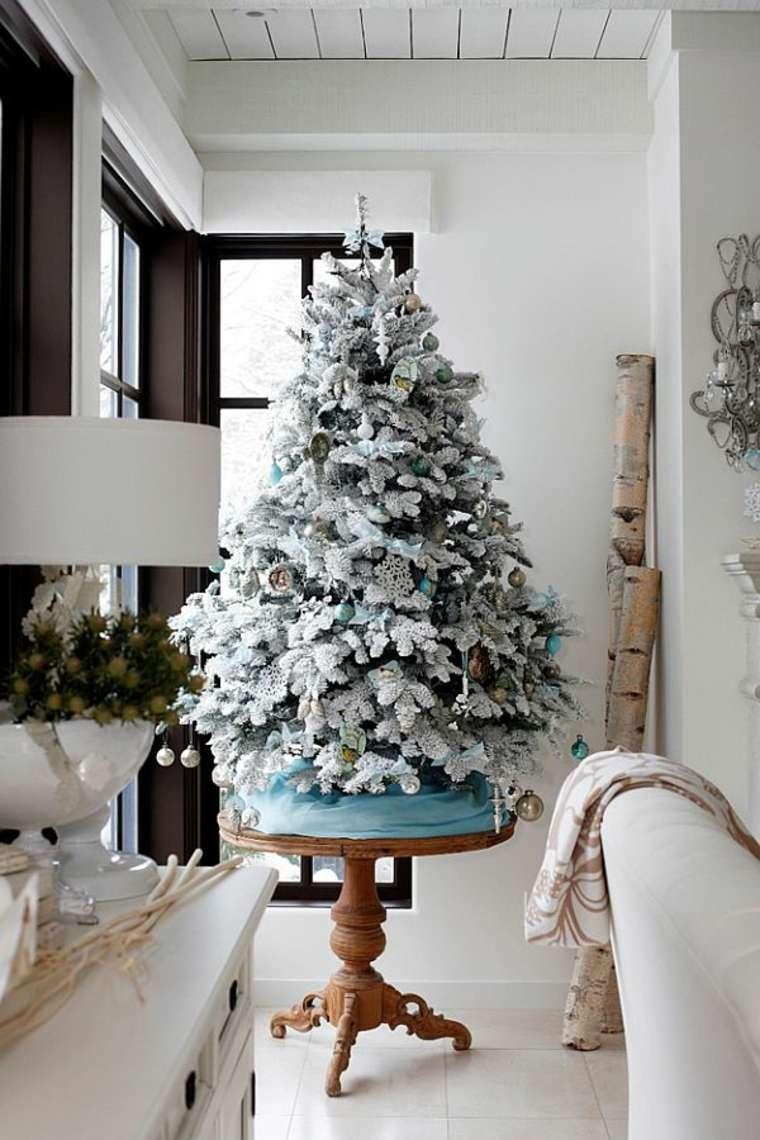 Decoracion Original Navidad ~ Original decoraci?n de abeto de Navidad con elementos azules