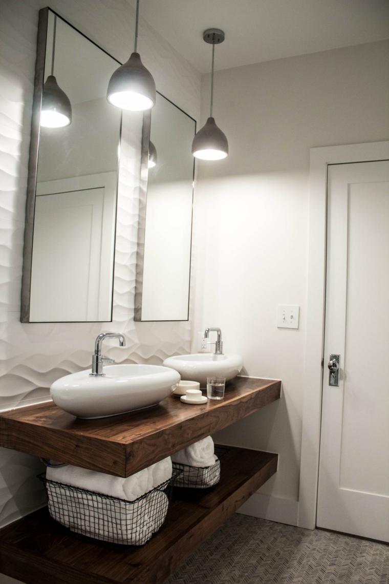 originales diseños lavabos madera