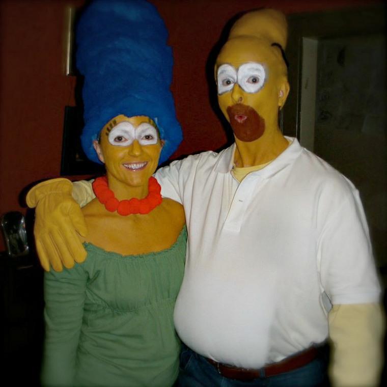 originales disfraces familia simpsons