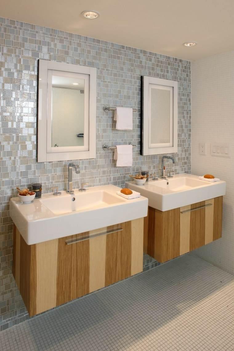 originales lavabos flotantes de madera