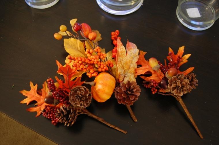 originales ramitos hojas secas pinas