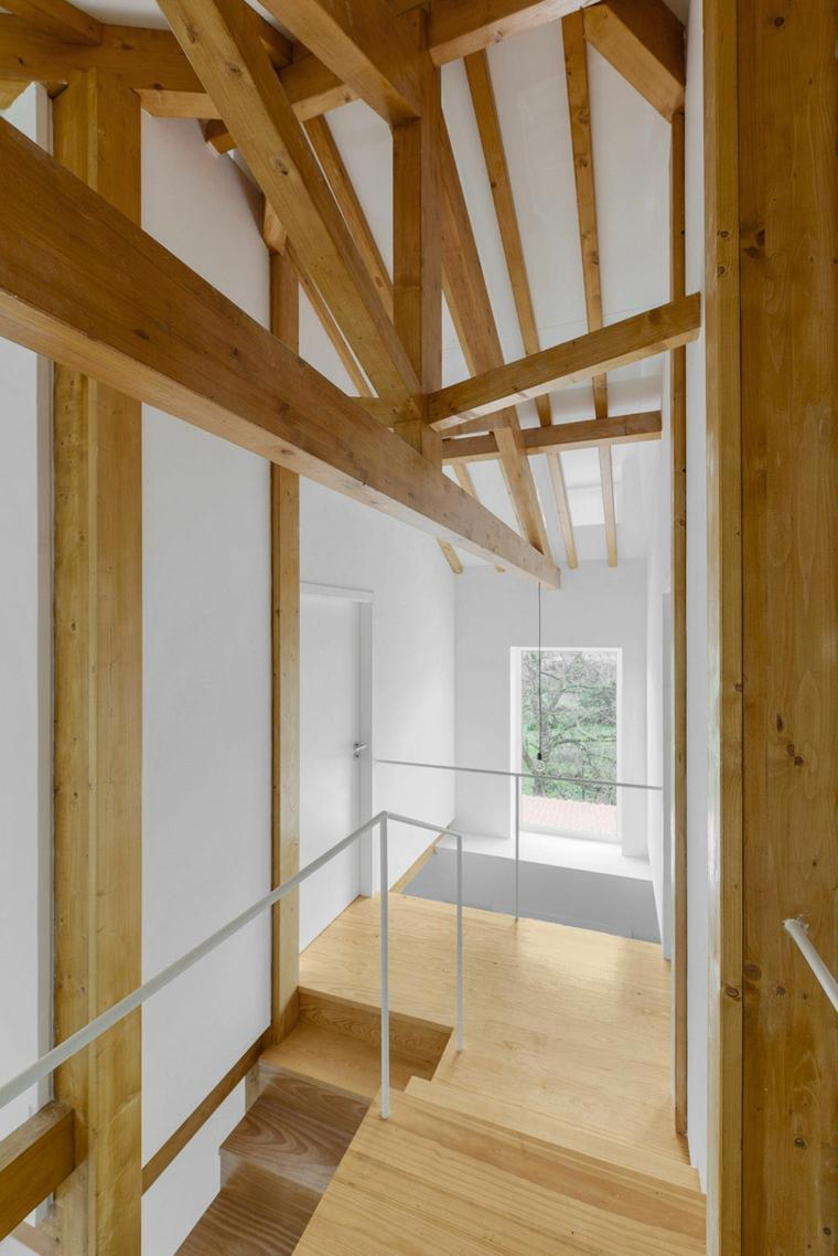 interior originales vigas madera vista