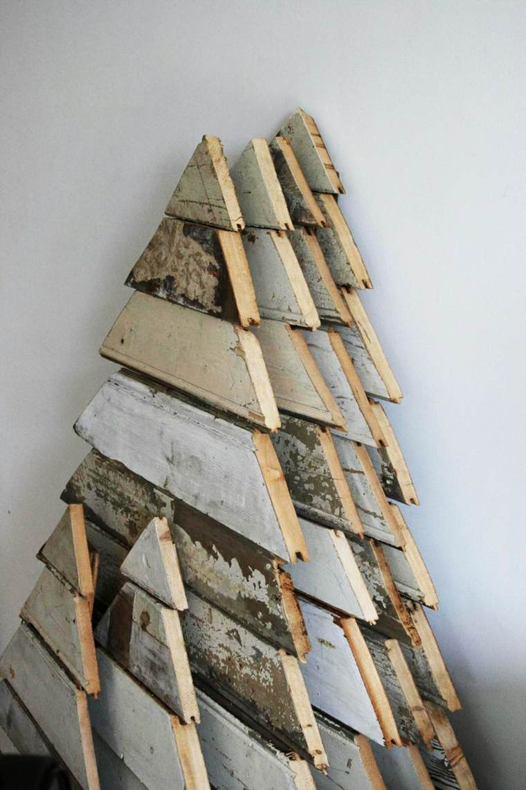 originales abetos navideños madera palets