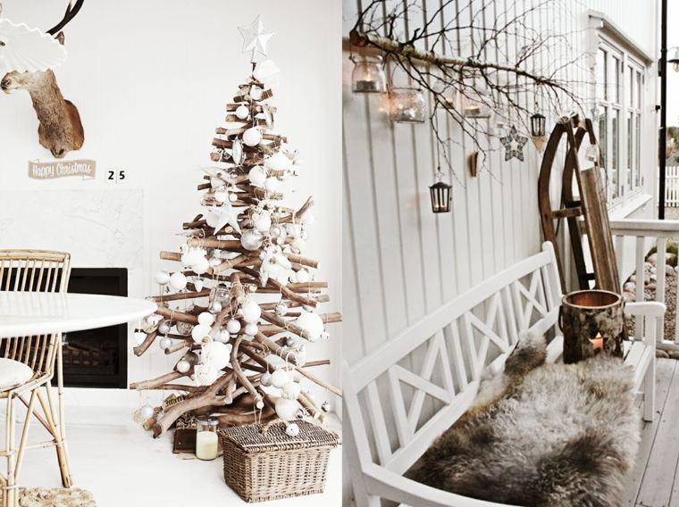originales adornos navidad rústica escandinava