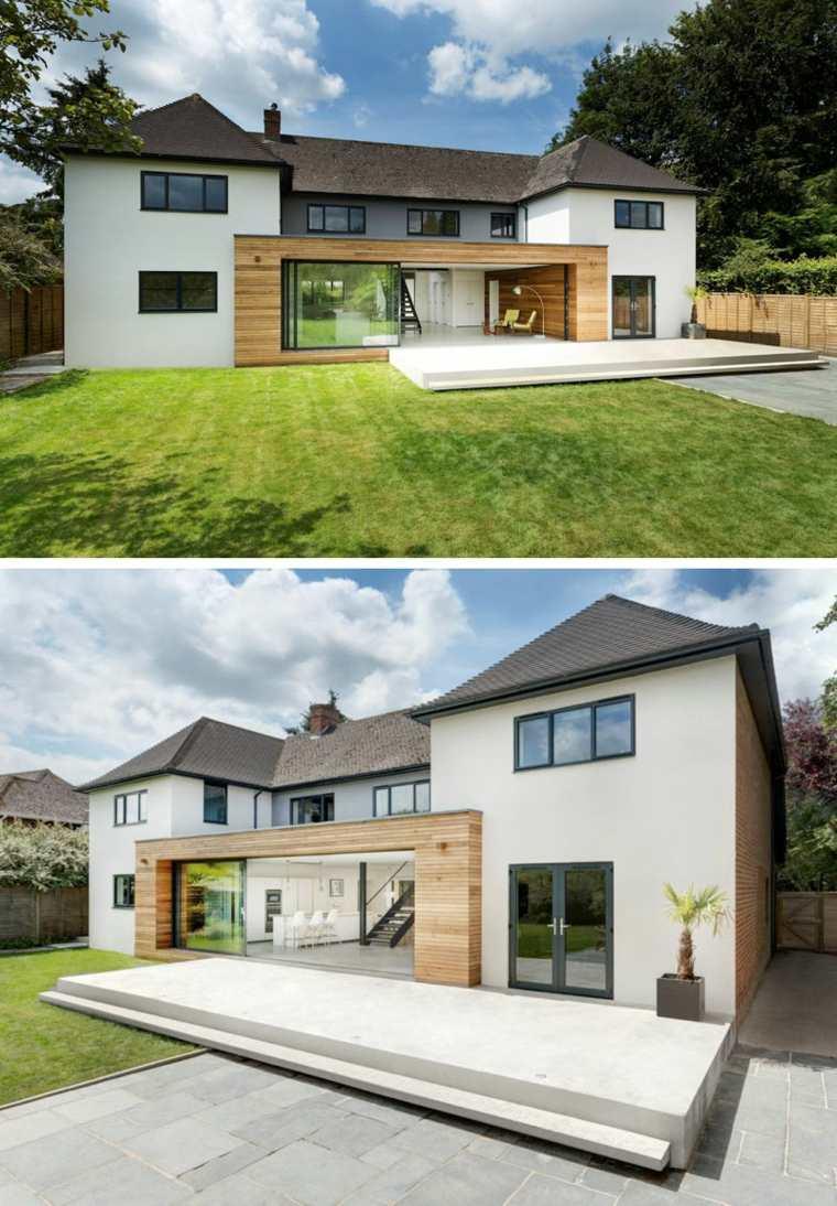 maisons britanniques modernes avec des extensions contemporaines elleidees. Black Bedroom Furniture Sets. Home Design Ideas