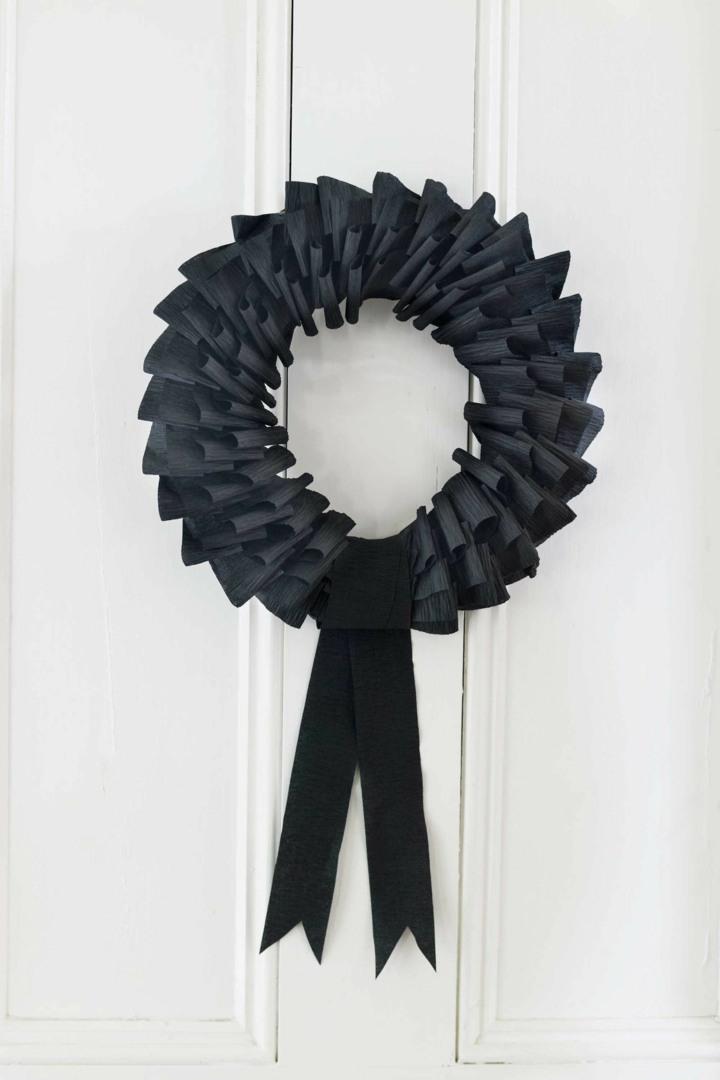 papel corona cintas negras cintas