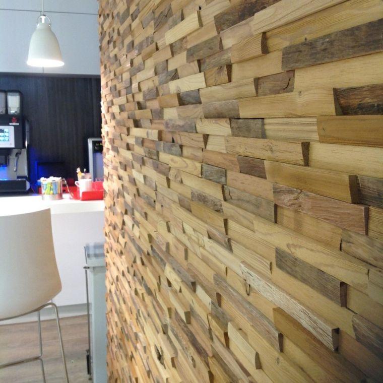 paredes de madera con relieves y acentos en 3d. Black Bedroom Furniture Sets. Home Design Ideas