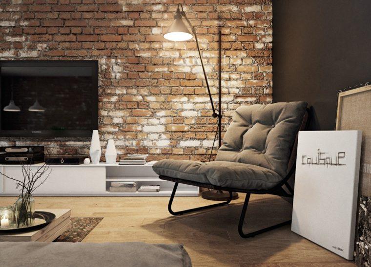 pared de ladrillo sala de estar