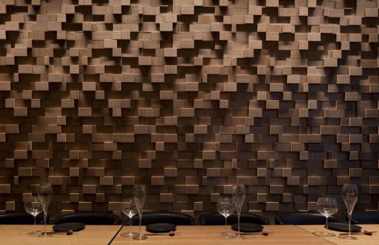 pared diseño moderno madera