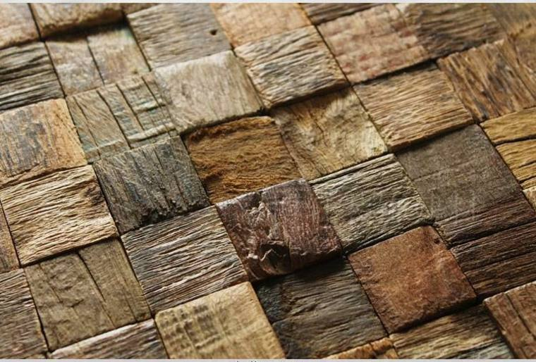 pared madera rústica cubos