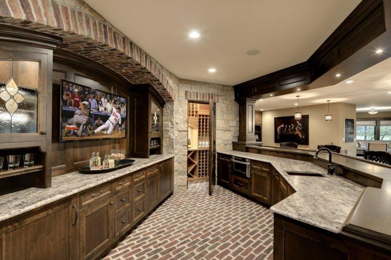 paredes de ladrillos cocina