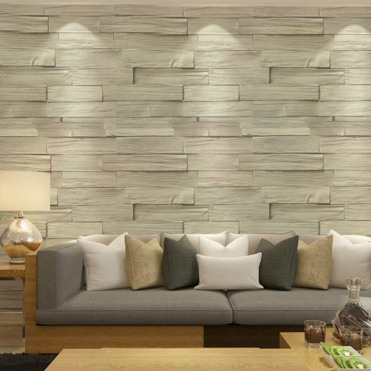 Paredes de madera con relieves y acentos en 3d - Madera para pared interior ...