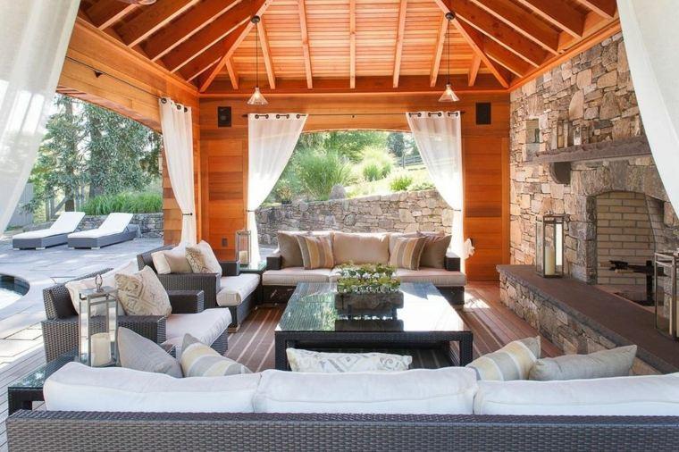 pergola madera muebles exterior terraza estilo
