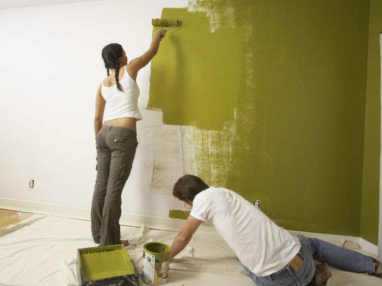 pintar paredes pintura colores brillantes