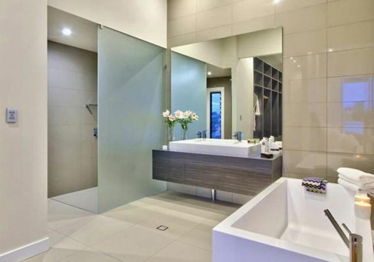 piso reformado baño