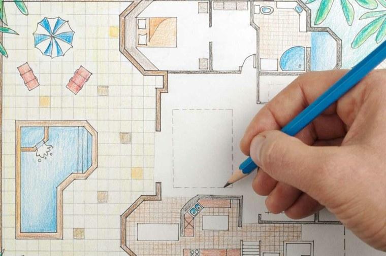 plano casa diseño interior