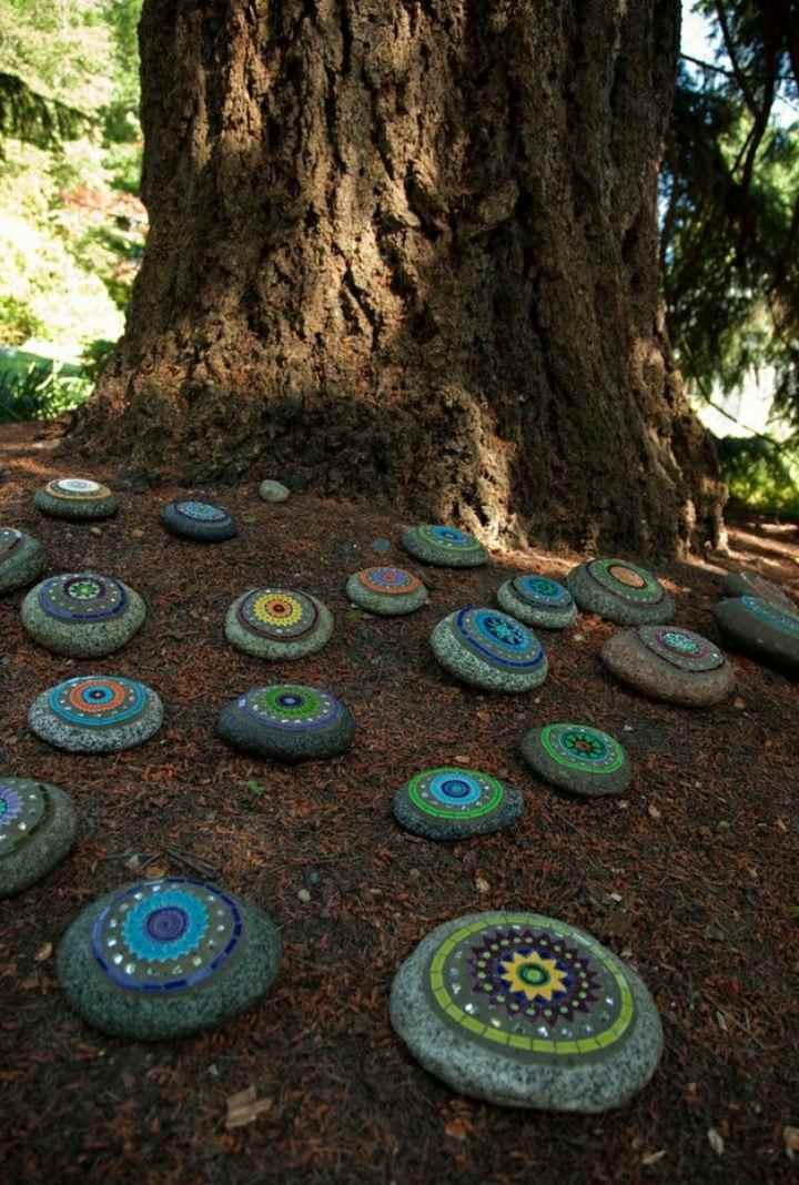 proyectos diy jardines decoraciones hojas
