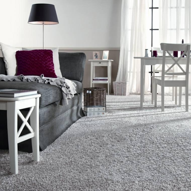 sala de estar alfombra pelo
