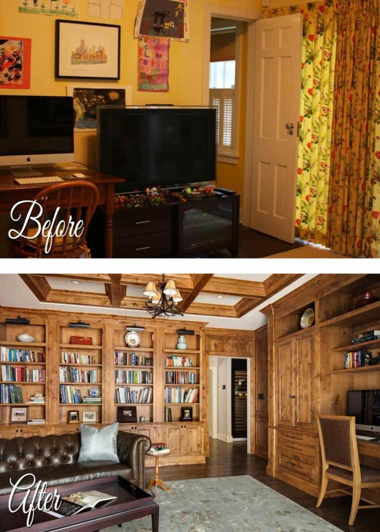 sala de estar elegante madera
