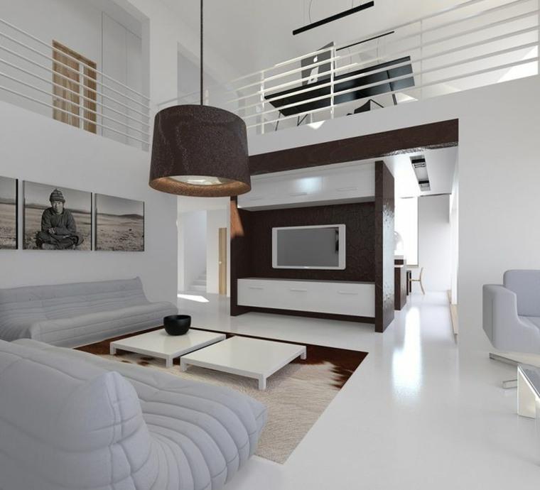 salon lujoso estilo futurista
