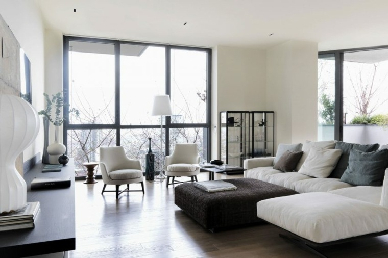 salon muebles blancos matteo nunziati diseno