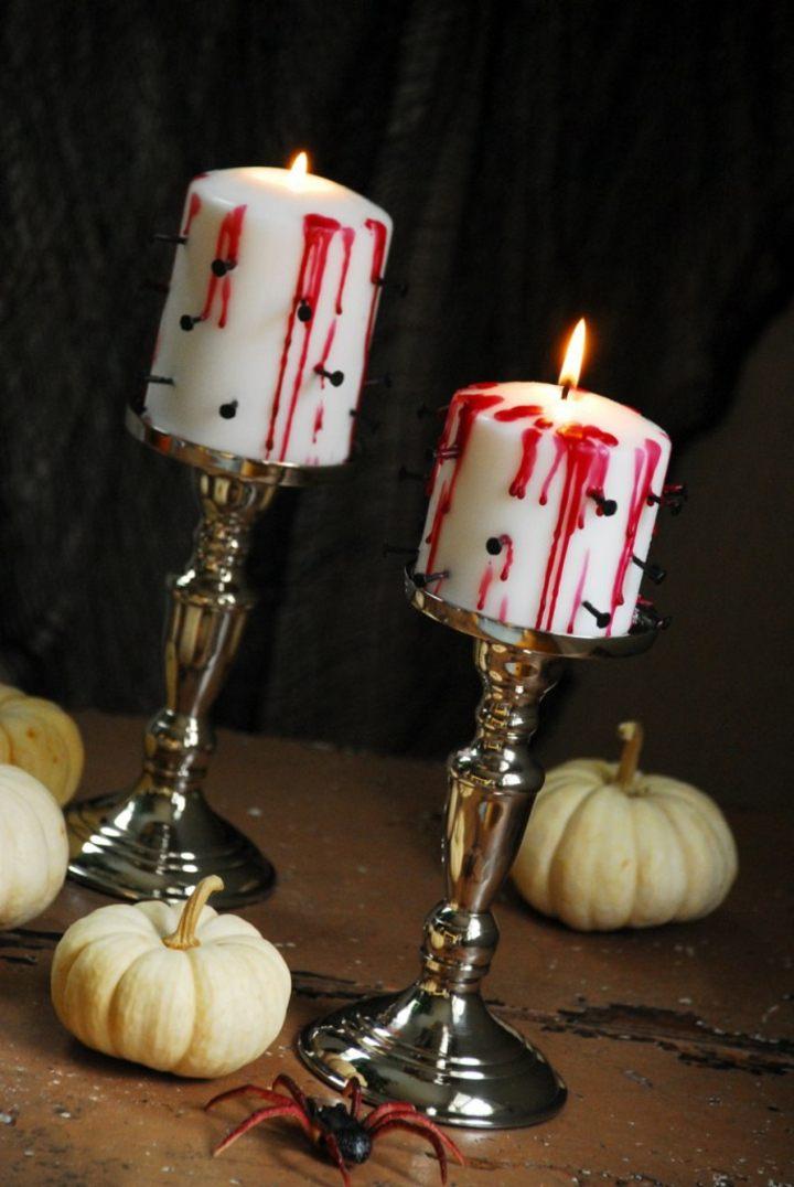 sangre artificial velas especiales arañas