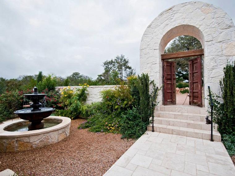 sendero jardin colorido clasico entrada ideas
