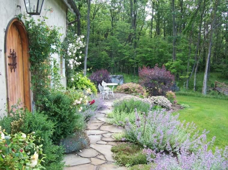 sendero jardin estilo shabby chic ideas